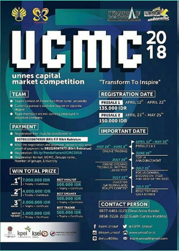Unnes Capital Market Competition For Mahasiswa 2018