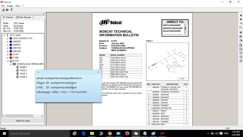 Wiring Diagram Bobcat Angle Broom Library Parts Catalog Repair Manual