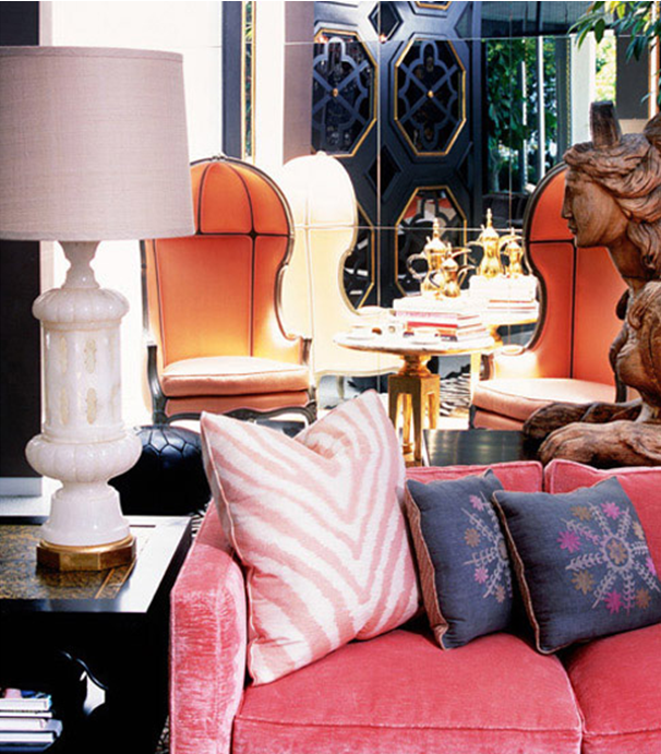 10 Fabulous Living Room Ideas By Kelly Wearstler: The Pink Elephant: Living Room Dreaming
