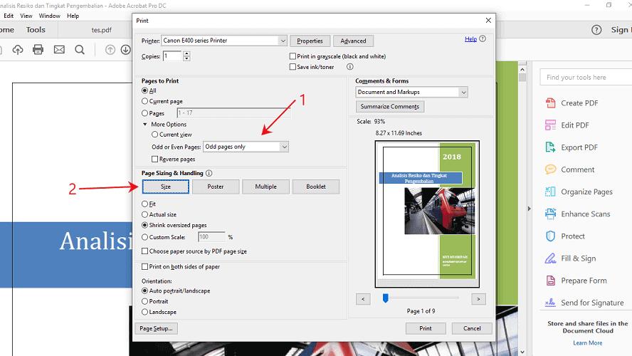 Cara print bolak balik pdf seperti booklet