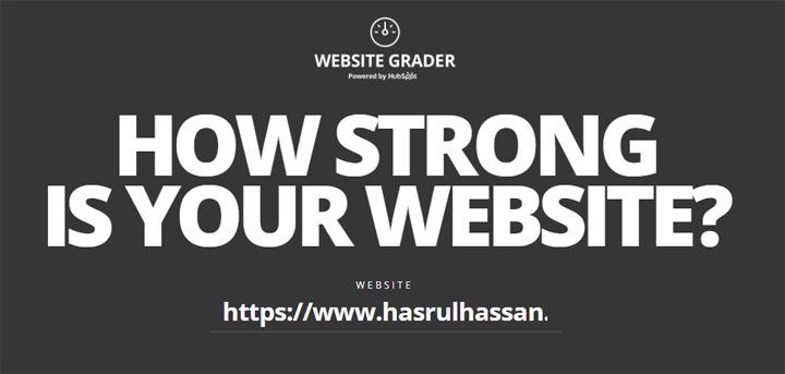 Semak Kekuatan Blog Menerusi Website Grader Hubspot