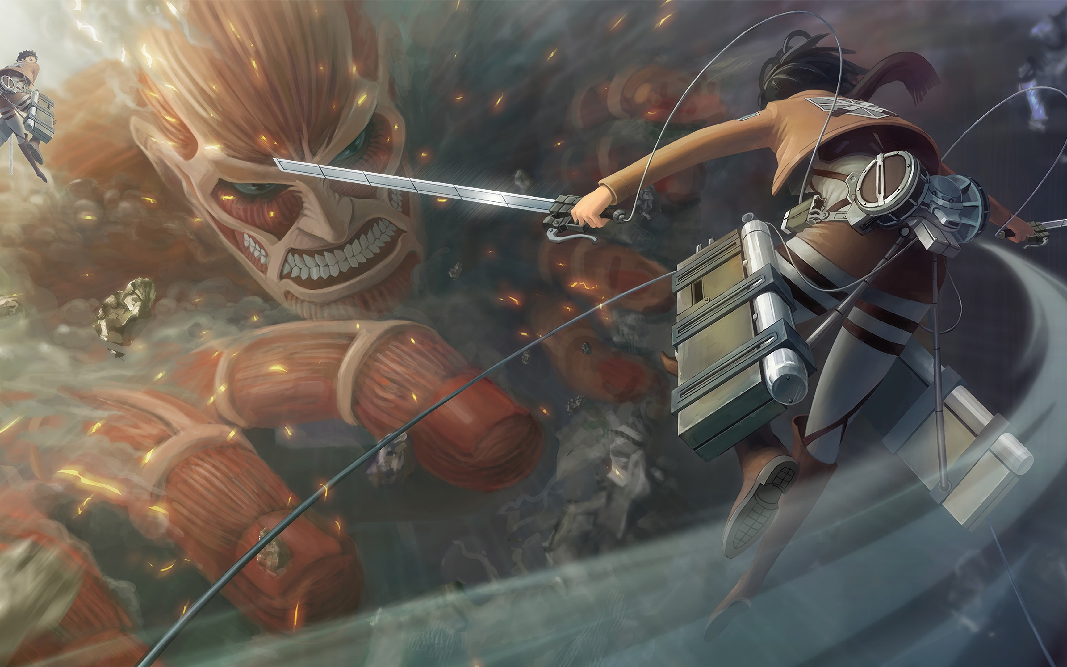 Attack on titans hd 4k wallpapers for android apk download. Colossal Titan, Attack on Titan, 4K, #22 Wallpaper