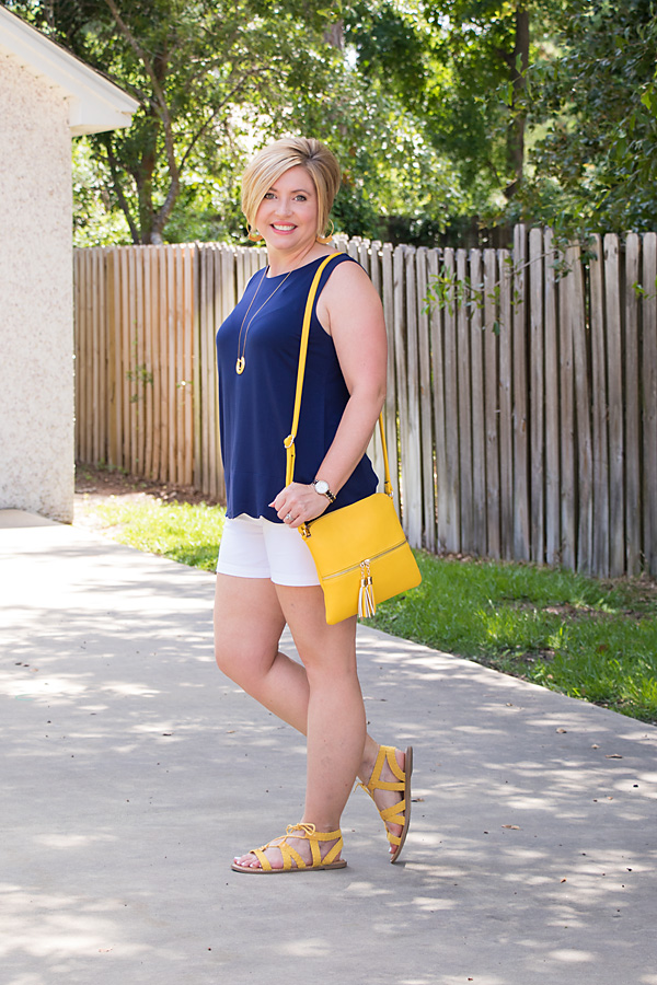 yellow sandals outfit