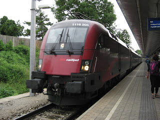 Our train to Budapest