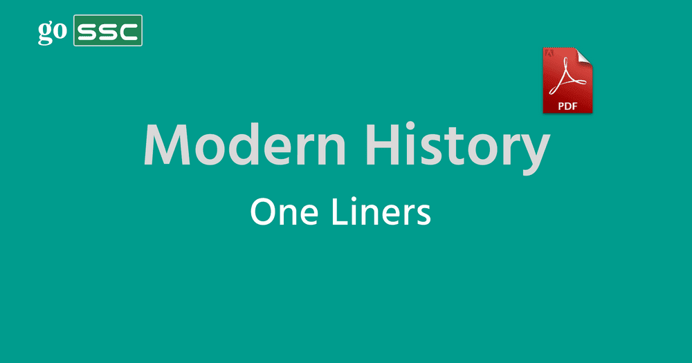 history one liners for ssc cgl