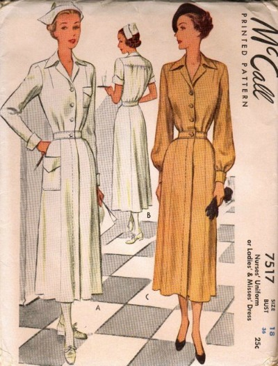McCall's 1940's Nurse Uniform Pattern