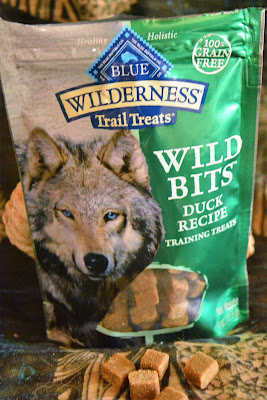 Wild Bits moist training treats that stay soft and don't dry up.