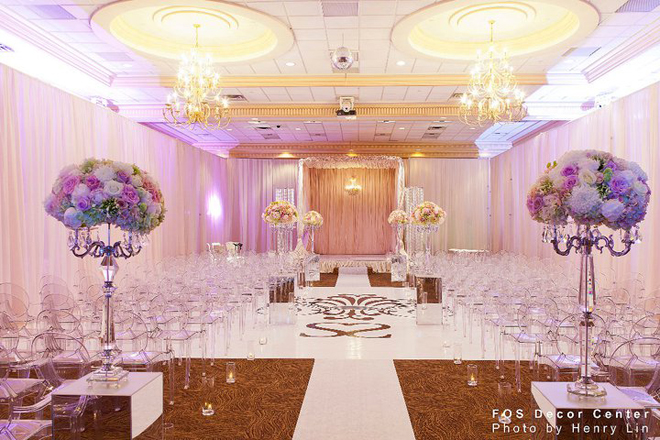 Sophisticated Contemporary Wedding Ceremony In: Wedding Ceremony Flower Ideas