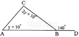 Sudut BAC dalam segitiga ABC