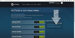 Cara mudah memasukan kode steam wallet