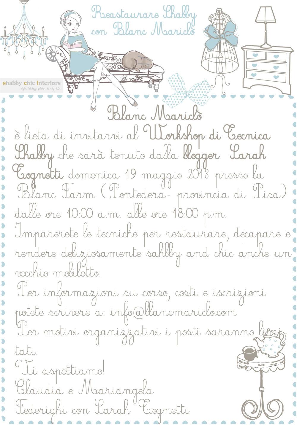 Tecniche Di Shabby Chic.Workshop Di Tecnica Shabby In Toscana Shabby Chic Interiors