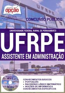 Apostila Concurso UFRPE 2016 Assistente em Administração