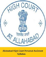 Allahabad High Court Personal Assistant Syllabus