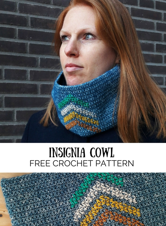 Crochet cowl free crochet pattern, The Insignia Cowl free crochet pattern | Happy in Red