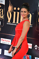 Meenakshi Dixit in Red One Shoulder Red Zipped up gown at IIFA Utsavam Awards004.JPG