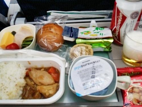 KE704 成田→仁川 機内食