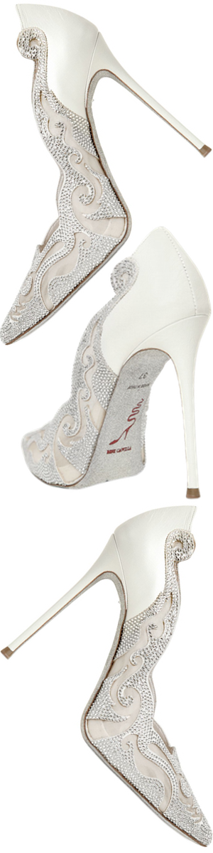 RENÉ CAOVILLA 115MM Swarovski & Lace Pumps