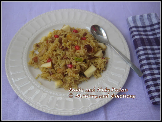 Fruits and Nuts Pulao / Kashmiri Pulao