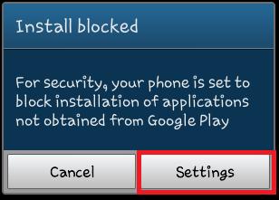 mengatasi tidak bisa install aplikasi android yang didownload dari luar google play