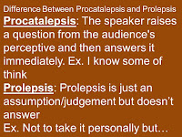 Difference Between Prolepsis and Procatalepsis