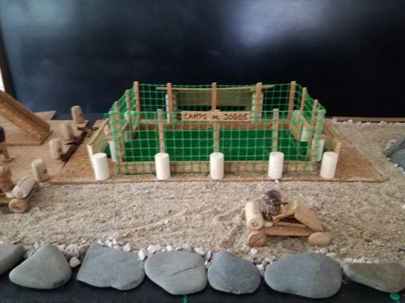 Campo de futebol em Rolhas de Cortiça