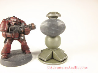 T1552 perimeter sensor array for 25-28mm scale miniature wargames - front view 2.