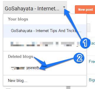 Blogger Delete
