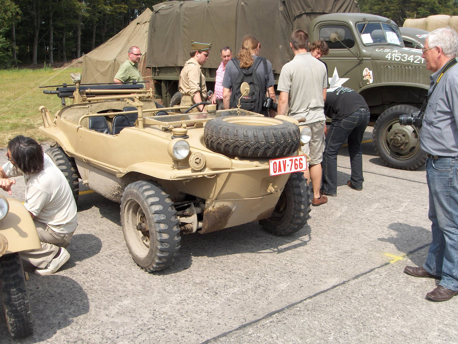 Schwimmwagen at Wings and Wheels Ursel Airfield Belgium