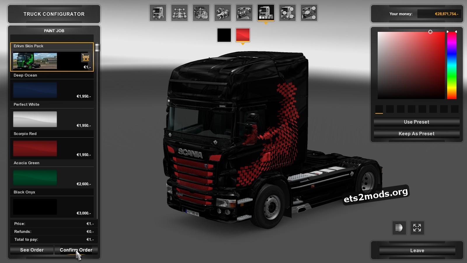 Erkvn Skin Pack for Scania RJL