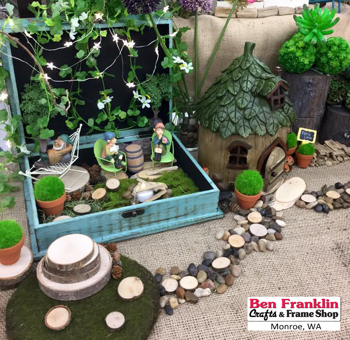 Ben franklin crafts and frame shop monroe wa unique fairy garden accessories for How to make a fairy garden accessories