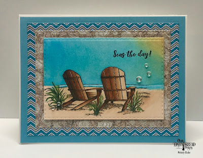 Our Daily Bread Designs Stamps: Come to Me, Custom Dies:  Double Stitched Rectangles, Paper Collections: By the Shore Collection, Boho Brights