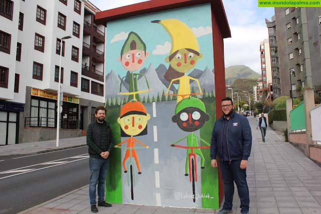 El proyecto Capital del Color incorpora a su catálogo la obra 'Ciclistas saludables' del artista polaco Łukasz Kubiak