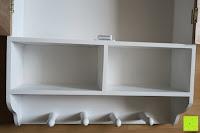 leer: Küchenschrank Wandschrank Hängeschrank 4 Haken 4 Schubladen 2 Glastüren Schrank