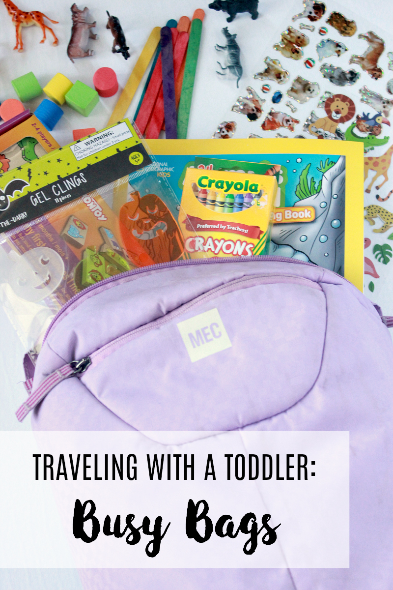 Traveling with a Toddler: Busy Bags
