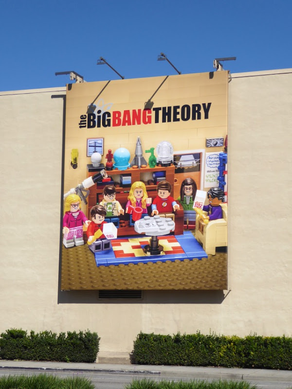 Big Bang Theory Lego billboard WB Studios