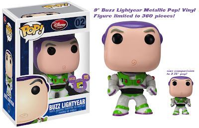 San Diego Comic-Con 2011 Exclusive Metallic Buzz Lightyear 9 Inch Pop! Disney Vinyl Figure by Funko