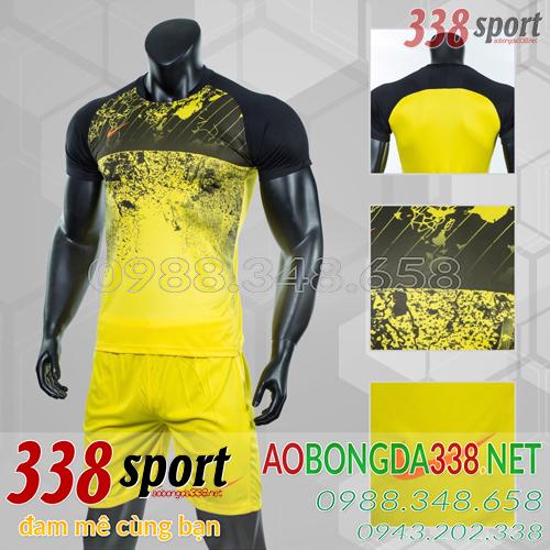 Áo Bóng Đá Không Logo Đẹp Nike Roter Vàng
