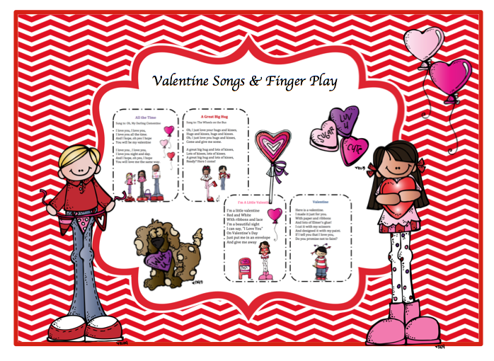 valentine songs finger play - Preschool Valentine Songs