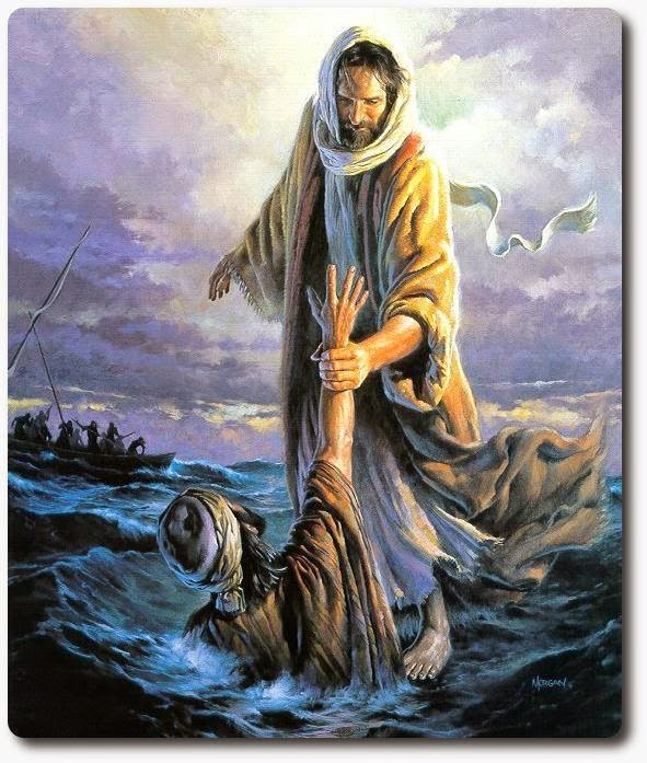 Jesus and Peter on the Water