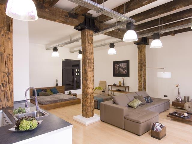 Dom i wn trza lofty for Ambiente soggiorno moderno