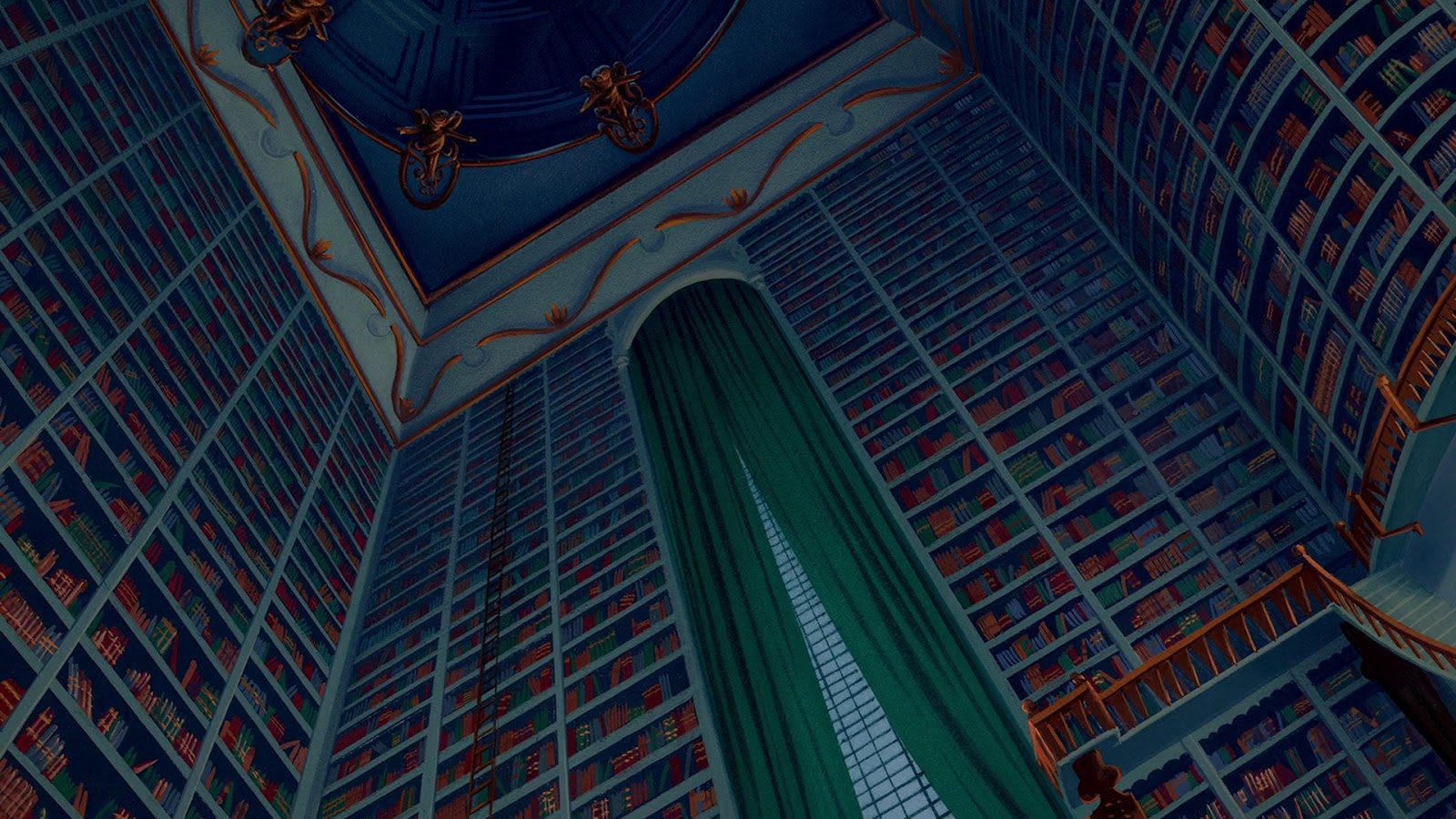 Even The Glorious Library Is Filmed Askew While This Scene Isnt Gothic In Tone It Serves To Accent Sheer Size Of Room And Disorientation