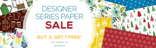 Designer Series Paper SALE October 1 - 31