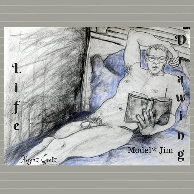 Nude Drawings by Minaz Jantz. Model Jim