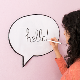 DIY SPEECH BUBBLE DRY ERASE BOARD