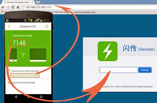 How To Transfer Files Between PC And Android Device With Xender