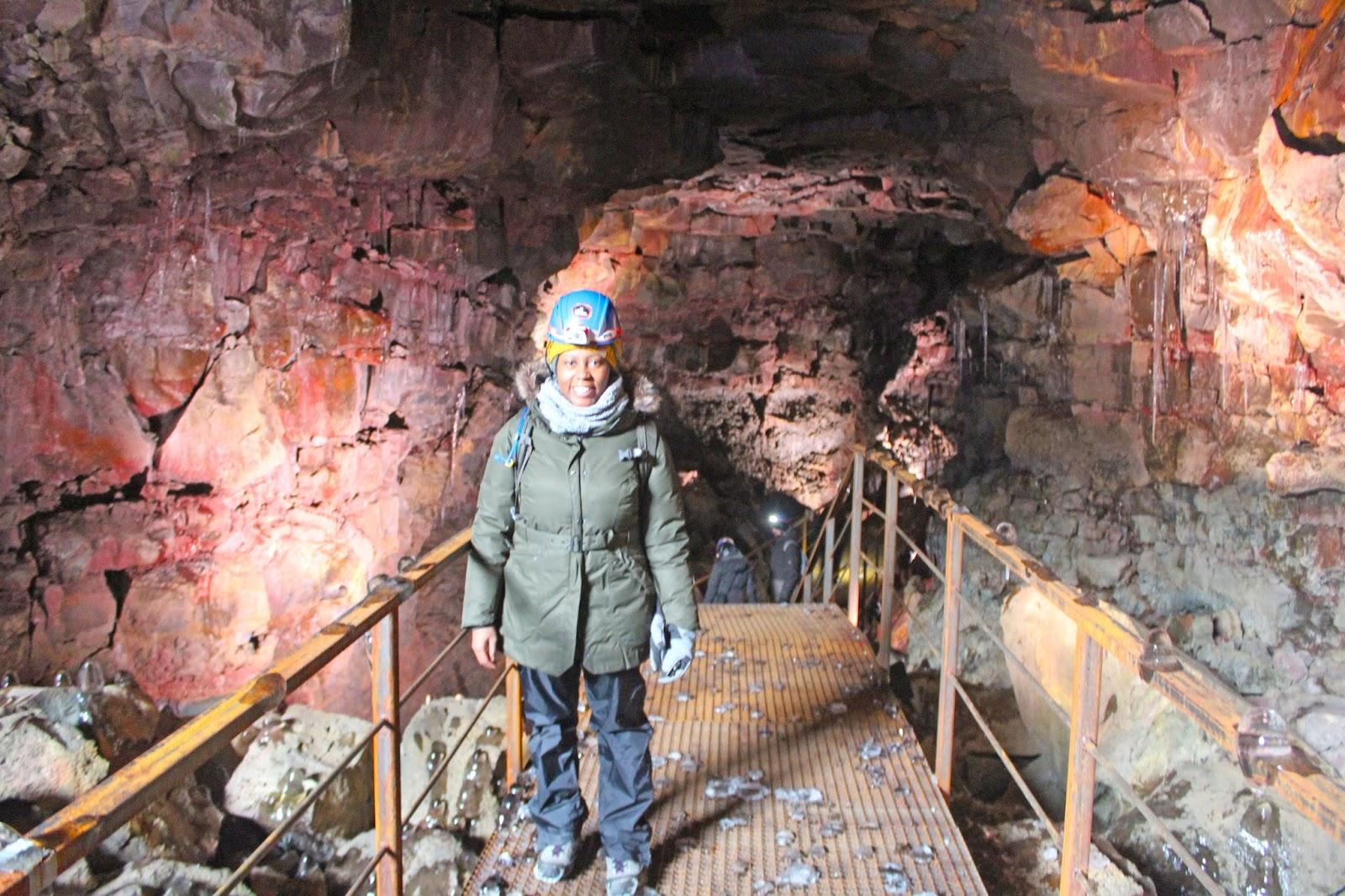 making restorations lava tube cave