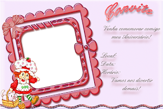 Strawberry Shortcake Free Printable Invitations, Labels or Cards.