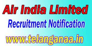 Air India Limited Recruitment Notification 2016 airindia.com