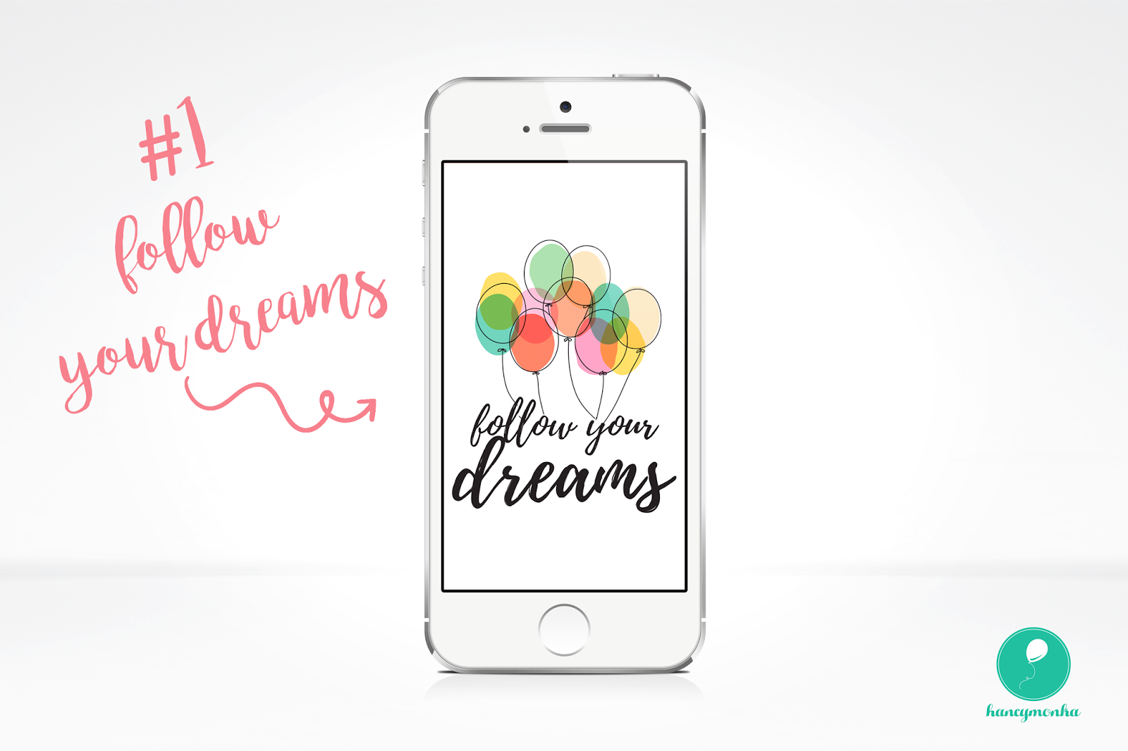 tapeta, tapeta na telefon, tapety, wallpaper, wallpapers, phone, smartphone, graphics, less is more, follow your dreams, hello, positive vibes only, wibracje, freebie, hancymonka, blog grafika