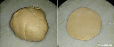 dough to make paratha